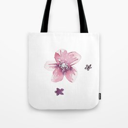Lilac Pink Watercolour Fiordland Flower Tote Bag