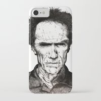 clint eastwood iPhone & iPod Cases featuring Clint Eastwood by Danielle Ross