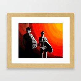 Sun Swallow Framed Art Print