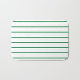 Kelly Green Breton Stripes Bath Mat