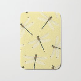 Dragonfly pattern Bath Mat