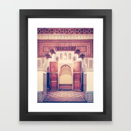Moroccan Ornate Woodwork Doorway Fine Art Print Framed Art Print