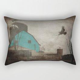 Rustic Teal Barn Country Art A158 Rectangular Pillow