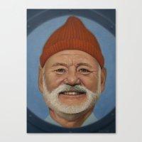 steve zissou Canvas Prints featuring Steve Zissou  by scottmitchell