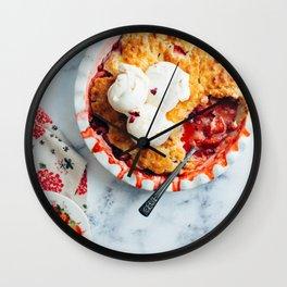 Strawberry Pie Wall Clock