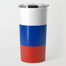 Russian Flag In Red White And Blue Travel Mug