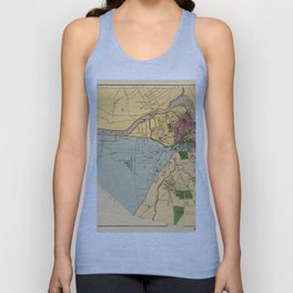 Map Of Lowell 1881 Unisex Tank Top