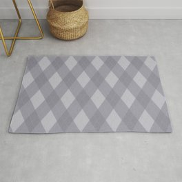 Pantone Lilac Gray Argyle Plaid Diamond Pattern Rug