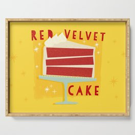 All American Classic Red Velvet Cake Serving Tray