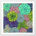 Succulent Pattern by julieerindesigns