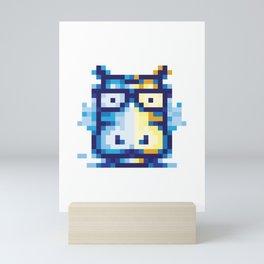 Pixel Hippo Mini Art Print