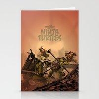 teenage mutant ninja turtles Stationery Cards featuring Teenage Mutant Ninja Turtles by s2lart