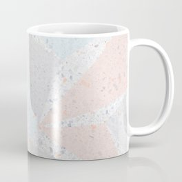Soft terrazzo pastel with abstract geometric triangles Coffee Mug