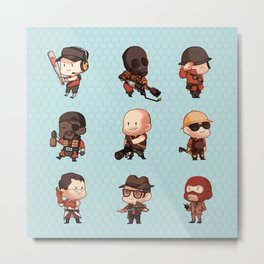 TF2 SD Metal Print