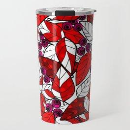 Retro . Bright colorful pattern . Travel Mug