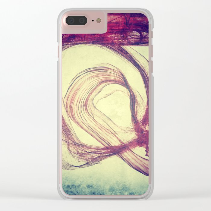 Gasping For Air Clear iPhone Case