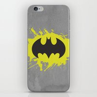 bat man iPhone & iPod Skins featuring Bat Man by Some_Designs