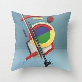 Constructivism & Suprematism in the style of Ivan Kliun (1 of 9) Throw Pillow