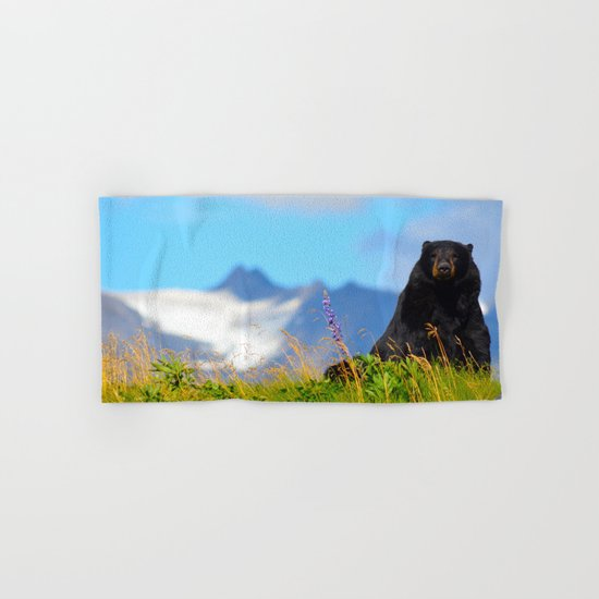 Alaskan Black Bear Hand & Bath Towel