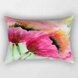Beautiful Poppy Rectangular Pillow