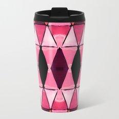 Art Deco Triangles Hot Pink Travel Mug