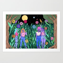 GIRLS ART NOW Art Print