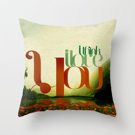 I Think I Love You Throw Pillow