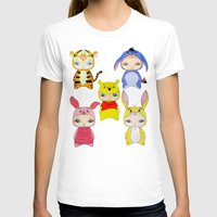 piglet T-shirts featuring A Boy - Winnie and friends by Christophe Chiozzi