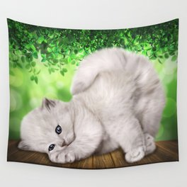 Spoiled Cat Wall Tapestry