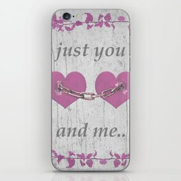 Shabby Chich Love Concept Poster iPhone Skin