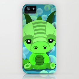 Chibi Bubble Dragon (Blue) iPhone Case