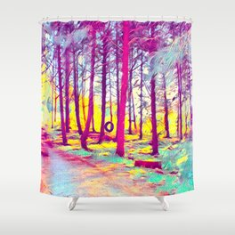 Let's Take Our Hearts For A Walk In The Woods and Listen to the Magic Whispers of Old Trees... Shower Curtain