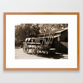 Wool Wagon Sepia Framed Art Print