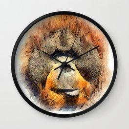 Orangutan Wall Clock