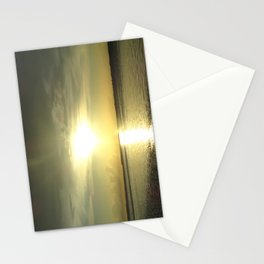 Green Sunset Stationery Cards