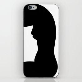 Nude silhouette figure - Nude black 002 iPhone Skin