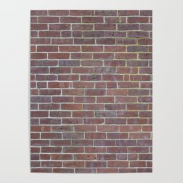 Worn Brick Surface Poster