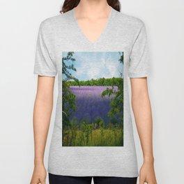 Summertime Lavender Unisex V-Neck