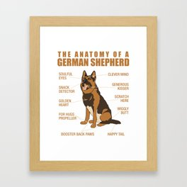 German Shepherd Anatomy Framed Art Print