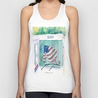 truck Tank Tops featuring Mail Truck by Yvonne Carter