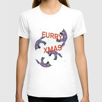 furry T-shirts featuring Furry xmas by Sil-la Lopez
