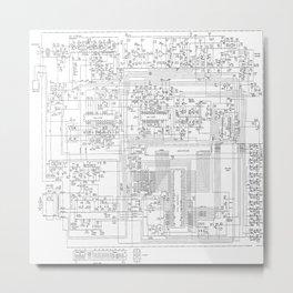 elektrik mankind  (A7 B0111) Metal Print