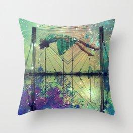Bridging Time Throw Pillow