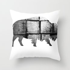 Buffalo (The Living Things Series)  Throw Pillow