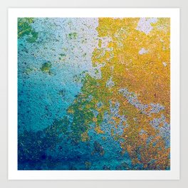 Chipping Paint Art Print
