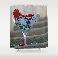 poker Shower Curtains featuring Poker by smittykitty