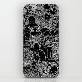 Oodles of Doodles of Singapore (Black) iPhone Skin
