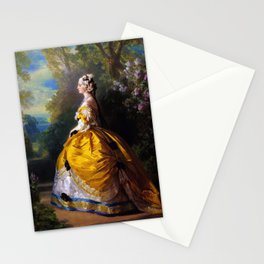 Eugénie de Montijo, oil on canvas by Franz Winterhalter Stationery Cards