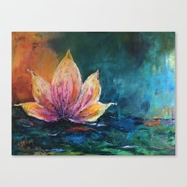 The Lotus House of Love, Peace & Migration Canvas Print