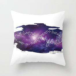 we were infinite Throw Pillow